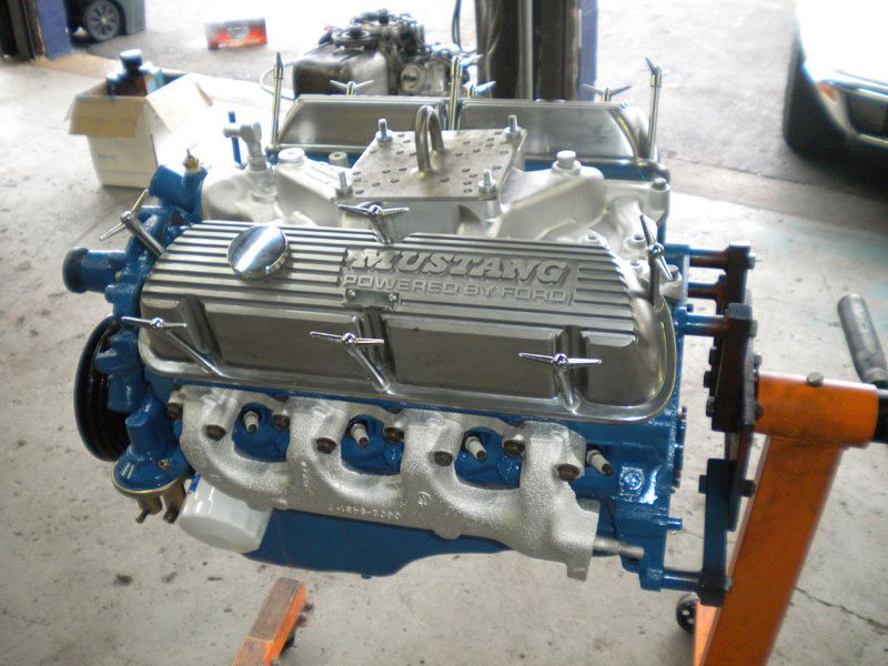 1966 Ford Mustang, engine rebuild