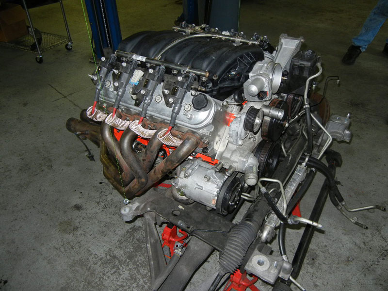 2008 ZO6 Corvette, engine build