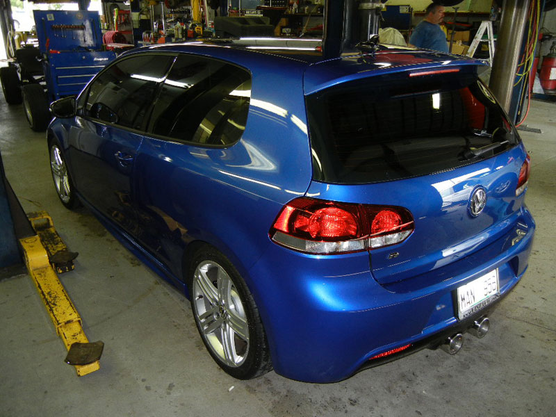 2012 VW Golf R, custom exhaust work.