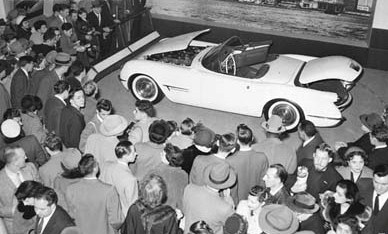 1953 Corvette (concept car) introduction at the Motorama car show